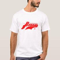 PBのTaglineの明るく赤いロゴのあと波 Tシャツ