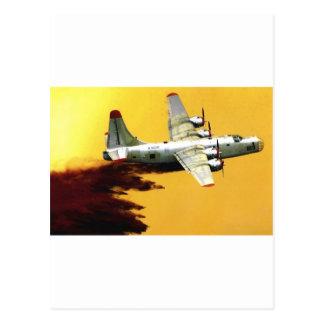 PB4消防士の航空機 ポストカード