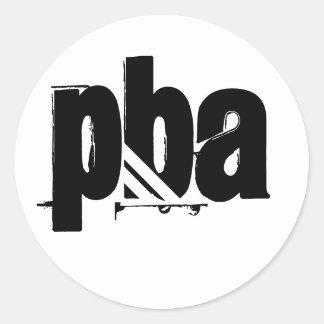 PBAのオリンピックステッカー ラウンドシール