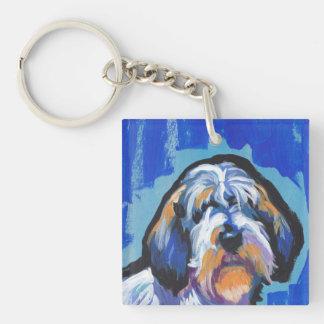 PBGVの小さいバセット犬のGriffon Vendeenの明るいポップアート キーホルダー