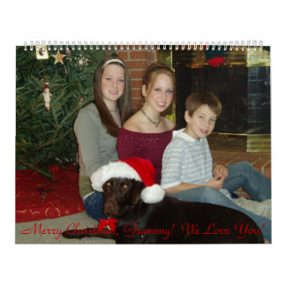 PC090017のメリークリスマス、Grammy!  私達は愛します! カレンダー