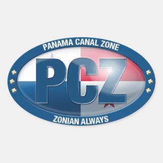 PCZ -パナマ運河の地帯: 常のZonian、ステッカー 卵型シール