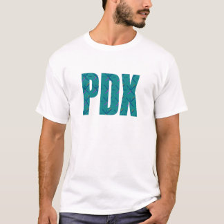 PDXポートランド空港カーペットの文字 Tシャツ