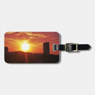 PDX都市眺めの日没 ラゲッジタグ