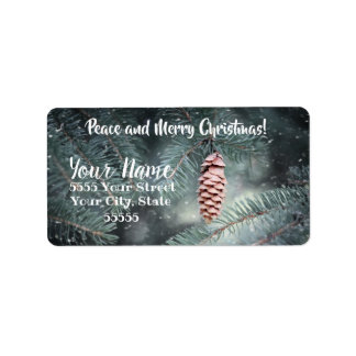 Peace and Merry Christmas Address Labels ラベル
