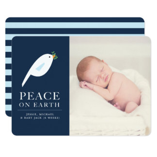 Peace Dove Holiday Photo Card カード