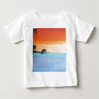 Peace_ElephantOfferingPrayers_AnjaliSanghiの夜明け ベビーTシャツ
