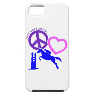 PEACE-LOVE-JUMPING iPhone SE/5/5s ケース