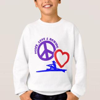 PEACE-LOVE-ROWING スウェットシャツ