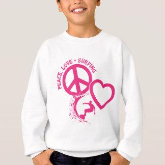 PEACE-LOVE-SURFING スウェットシャツ