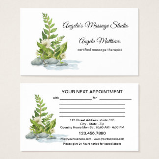 Peaceful Watercolor Appointment Business Card 名刺