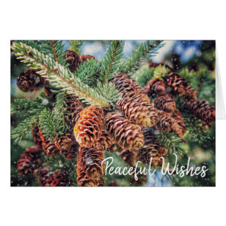 Peaceful Wishes Holiday Card カード