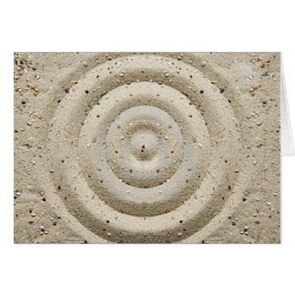 Peacefullの砂の渦巻 カード