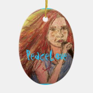 PeaceLoveのロッカーの女の子 セラミックオーナメント