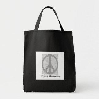 PeaceSignDon'tletそれは遠くに衰退します トートバッグ