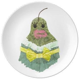Pear女性磁器皿 磁器プレート