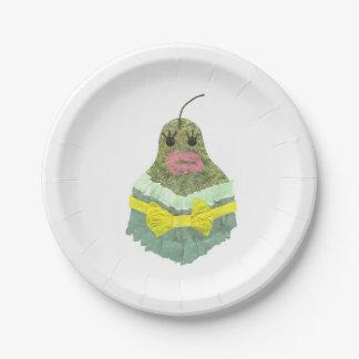Pear女性紙皿 ペーパープレート