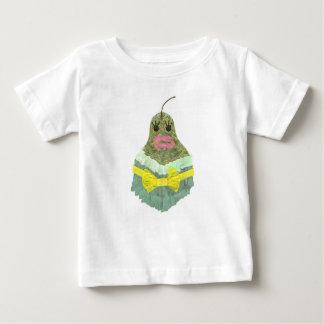 Pear Background Baby女性Tシャツ ベビーTシャツ