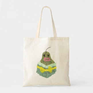 Pear Background Bag女性 トートバッグ