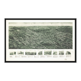 Pearl川、ニューヨーク(1924年)の空中写真 キャンバスプリント