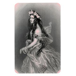 Pearls Portrait Vintage優れたFlexiの磁石の女性 マグネット