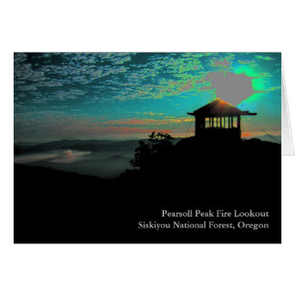 Pearsollのピーク火の眺望 カード