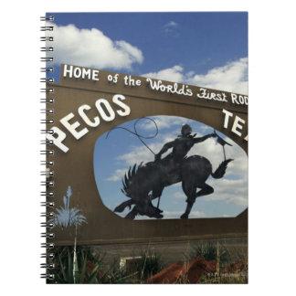 Pecosのテキサス州の印 ノートブック