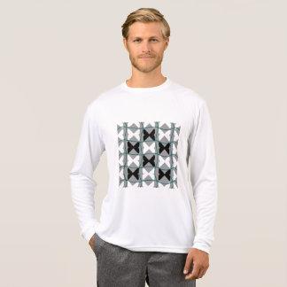 Pedia/人のスポーツTekの競争相手の長袖 Tシャツ