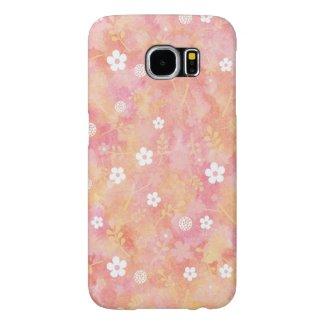 癒しと愛の花柄模様 Galaxy S6 ウォレットケース Samsung Galaxy S6 ケース