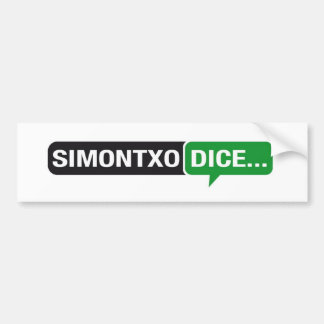 Pegatina Simontxoのサイコロ… バンパーステッカー