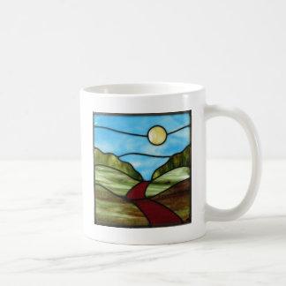 PEIの夏の赤い砂利道 コーヒーマグカップ