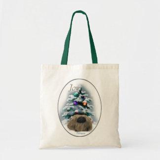 Pekingeseのクリスマスのギフト トートバッグ