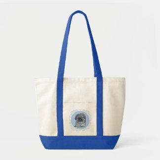 Pekingeseの子犬の青 トートバッグ