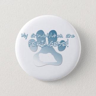 Pekingeseの孫ボタン 5.7cm 丸型バッジ
