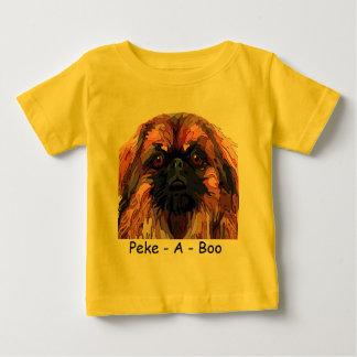 Pekingeseの明るい色の幼児衣服 ベビーTシャツ