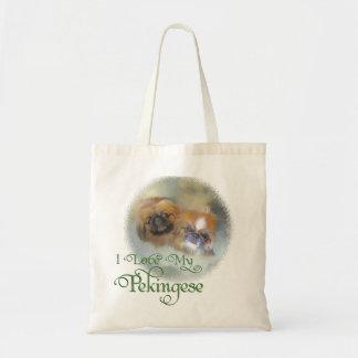 Pekingeseの柔らかいデュオ トートバッグ