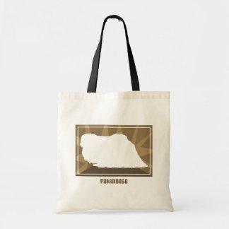 Pekingeseの自然なバッグ トートバッグ