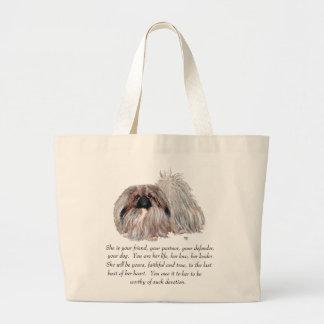 Pekingeseの記念品-女性 ラージトートバッグ
