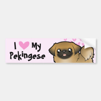 Pekingese愛(切られる子犬) バンパーステッカー