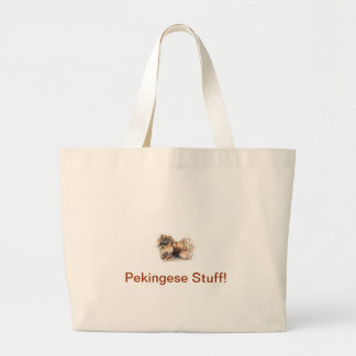 Pekingese ラージトートバッグ