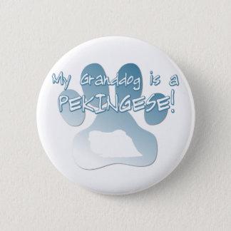 Pekingese Granddogボタン 5.7cm 丸型バッジ