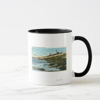 Pemaquidの灯台の眺め マグカップ