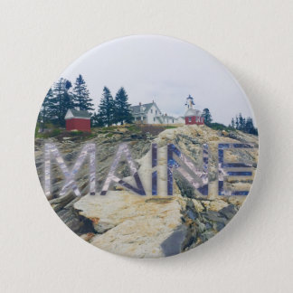 pemaquidの灯台メインボタン 7.6cm 丸型バッジ