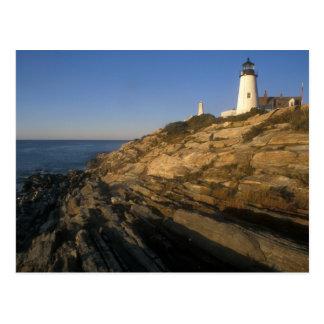 Pemaquidポイント灯台および崖 ポストカード