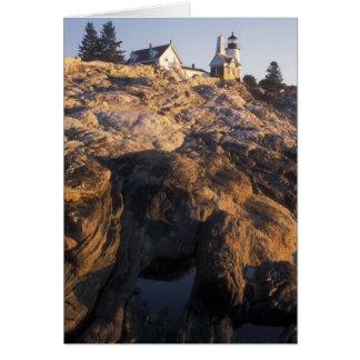 Pemaquidポイント灯台および潮プール カード