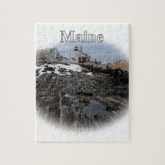 Pemaquidポイント灯台メイン ジグゾーパズル