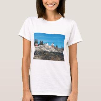 Pemaquidポイント灯台4 Tシャツ