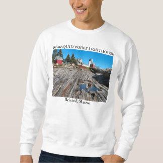 Pemaquidポイント灯台、ブリストルメイン スウェットシャツ