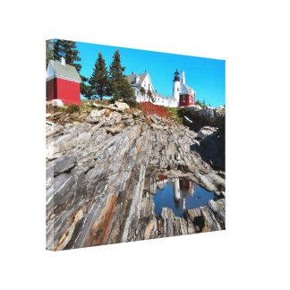 Pemaquidポイント灯台、メイン キャンバスプリント