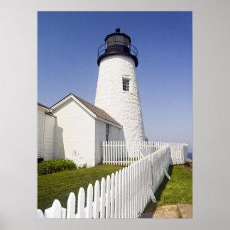Pemaquidポイント灯台、メイン ポスター